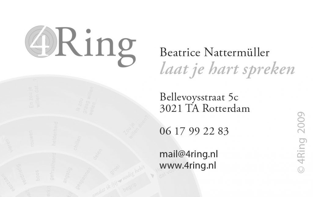 K ring visitekaart 4Ring 88 x 55mm